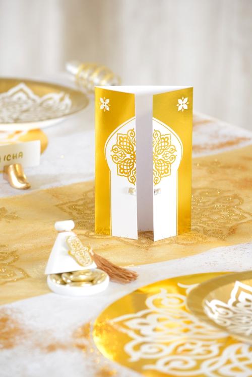 tischkarten orientalisch gold 1001 nacht partydekoration mottoparty orient ballonsupermarkt. Black Bedroom Furniture Sets. Home Design Ideas