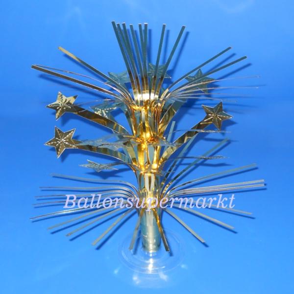 ballonsupermarkt tischst nder golden stars tischdekoration zu silvester. Black Bedroom Furniture Sets. Home Design Ideas