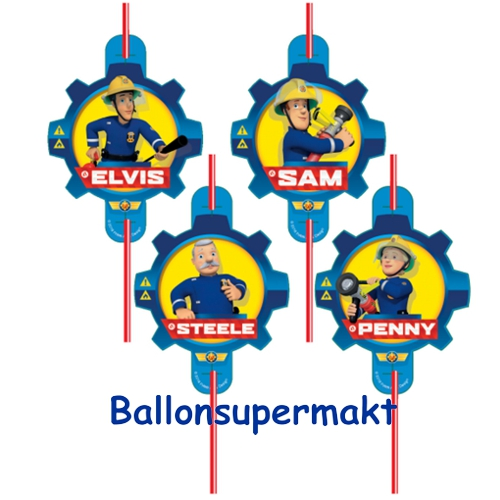ballonsupermarkt trinkhalme feuerwehrmann sam partydekoration kindergeburtstag. Black Bedroom Furniture Sets. Home Design Ideas
