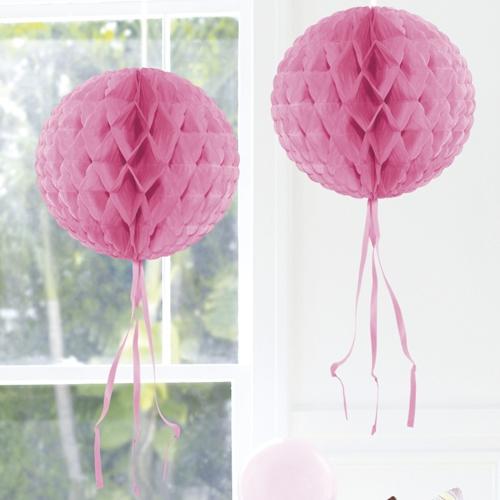Ballonsupermarkt wabenball rosa 30 cm for Raumdekoration hochzeit