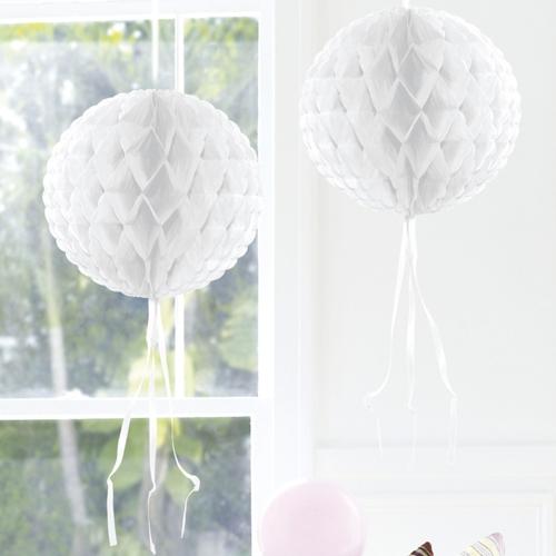 Ballonsupermarkt wabenball wei 30 cm for Raumdekoration hochzeit