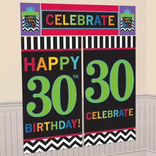 ballonsupermarkt wanddekoration celebrate 30 5 teiliges set zum 30 geburtstag. Black Bedroom Furniture Sets. Home Design Ideas