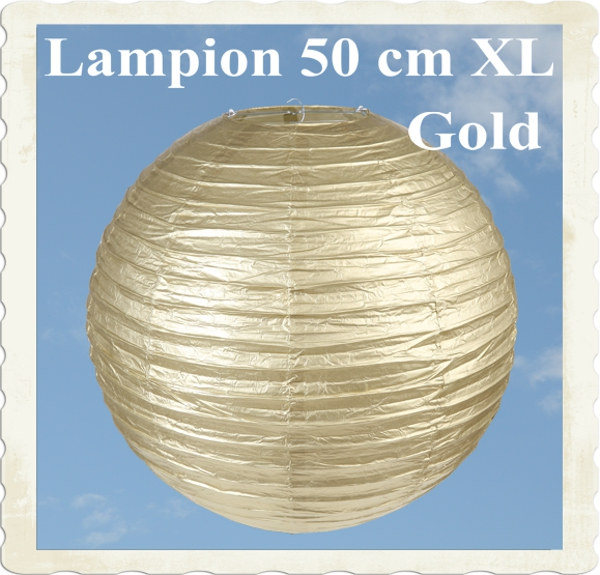 XL Lampion, 50 cm, Gold