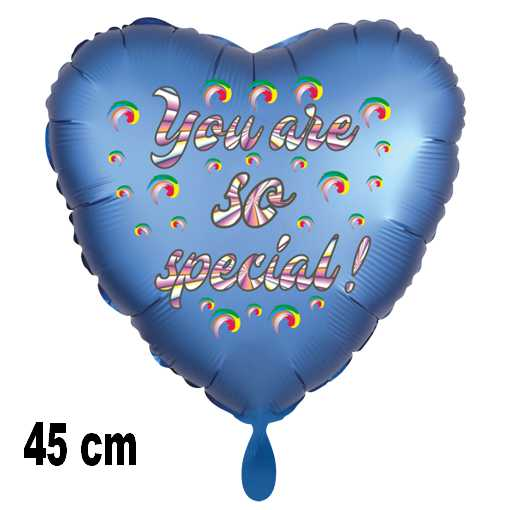 You are so special! Herzlzftballon aus Folie, satinblau, 45 cm, inklusive Helium