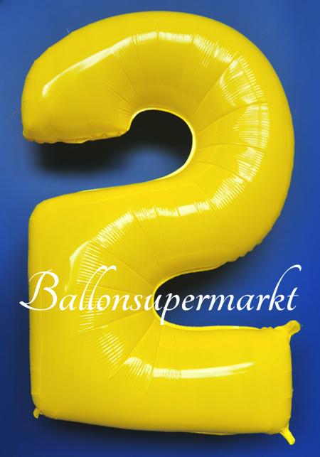 zahlen luftballon aus folie 2 zwei gelb 100 cm gro luftballons aus folie gro e zahlen. Black Bedroom Furniture Sets. Home Design Ideas