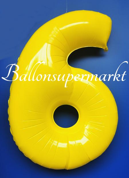 zahlen luftballon aus folie 6 sechs gelb 100 cm gro luftballons aus folie gro e zahlen. Black Bedroom Furniture Sets. Home Design Ideas