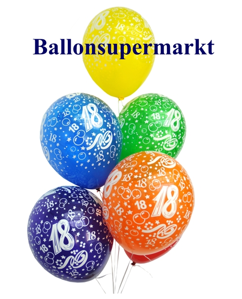 ballonsupermarkt geburtstagballons 18. Black Bedroom Furniture Sets. Home Design Ideas