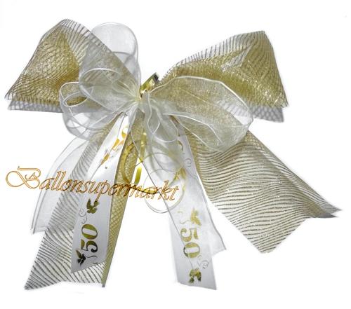 Hochzeitsschleife Hochzeitsdeko Zierschleife Goldene Hochzeit