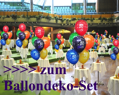 luftballons latexballons 50 st ck 50 50 geburtstag. Black Bedroom Furniture Sets. Home Design Ideas