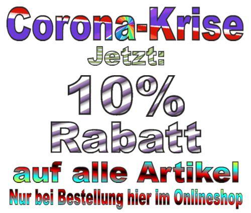 Corona Krise: Jetzt 10% Rabatt auf alle Artikel im Ballonsupermarkt-Onlineshop!