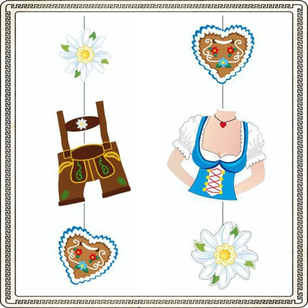 ballonsupermarkt deko h nger trachten und dirndl 2 st ck set oktoberfest. Black Bedroom Furniture Sets. Home Design Ideas