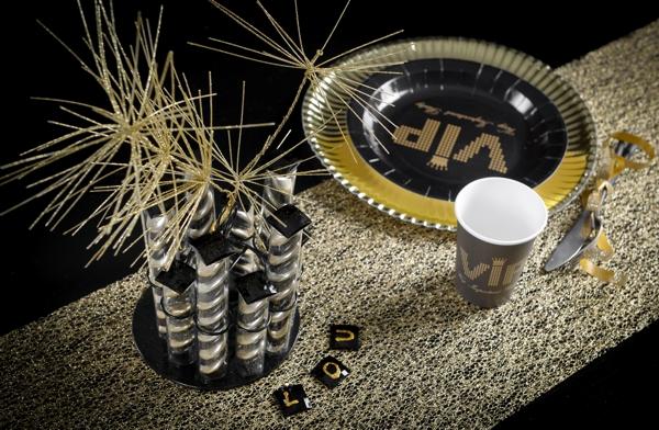 ballonsupermarkt deko tischl ufer tischdecke r sille et paillette gold. Black Bedroom Furniture Sets. Home Design Ideas