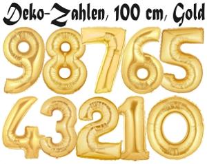 Zahlen Luftballon Aus Folie 1 Eins Gold 100 Cm Gross