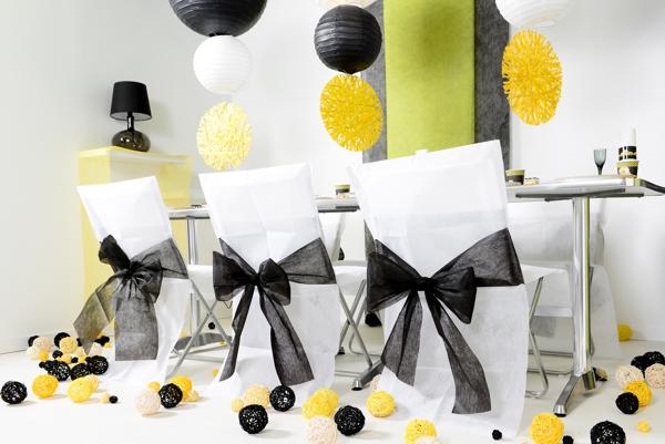 ballonsupermarkt 10 stuhlhussen wei mit. Black Bedroom Furniture Sets. Home Design Ideas