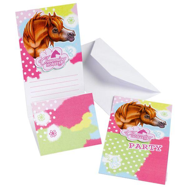 einladungskarten pferde, partydekoration kindergeburtstag