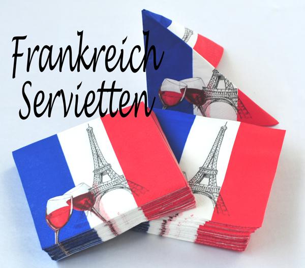 Ballonsupermarkt servietten frankreich 50 for Frankreich dekoration