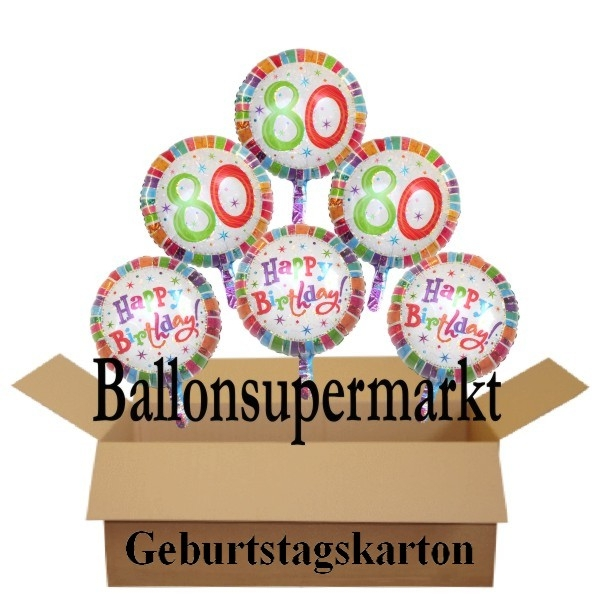 ballonsupermarkt geburtstag 80. Black Bedroom Furniture Sets. Home Design Ideas