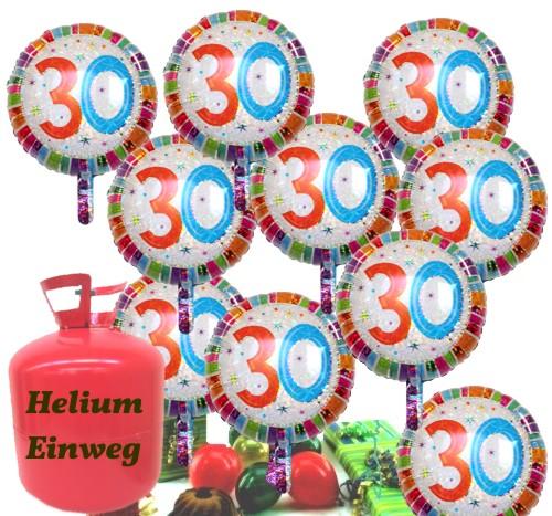 Helium Einwegbehalter Mit 20 Geburtstag 30 Gluckwunschen