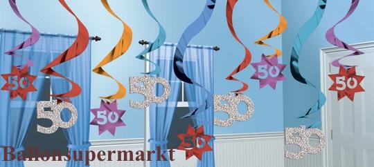 geburtstag dekoration swirls 50 ballonsupermarkt. Black Bedroom Furniture Sets. Home Design Ideas