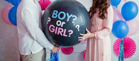gender reveal luftballons