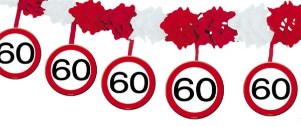 ballonsupermarkt geburtstagsgirlande zum 60 geburtstag verkehrsschilder 60. Black Bedroom Furniture Sets. Home Design Ideas