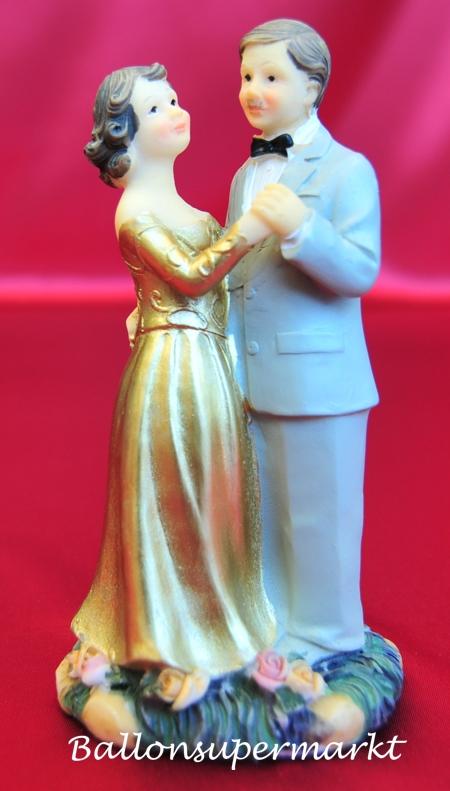 Hochzeitspaar Goldene Hochzeit Tischdekoration