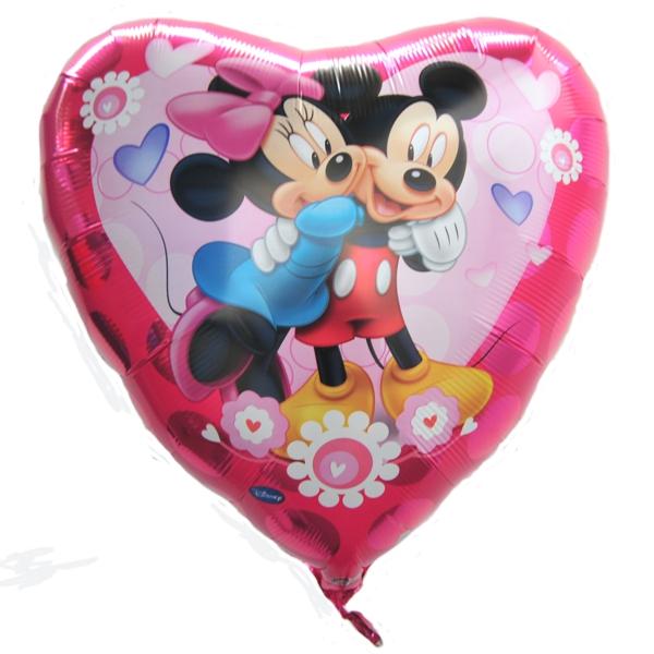 folienballon shape minnie and mickey mouse love herzfolienballon mit ballongas ballonsupermarkt. Black Bedroom Furniture Sets. Home Design Ideas