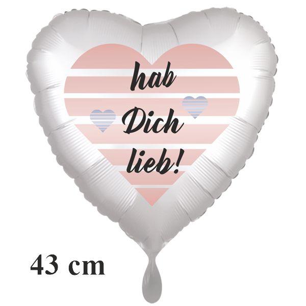 hab dich lieb! Luftballon aus Folie