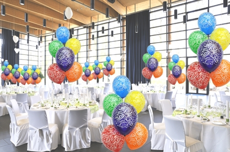 Maxi Set 5 100 Luftballons Mit Helium Happy Birthday Geburtstag