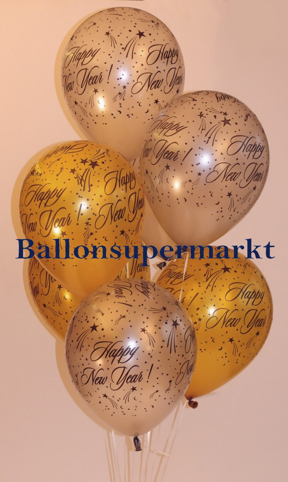 Silvester Luftballons Happy New Year, Silvesterparty Dekoration