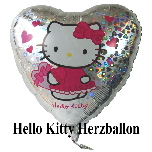 Hello Kitty Herzluftballon, Holografisch