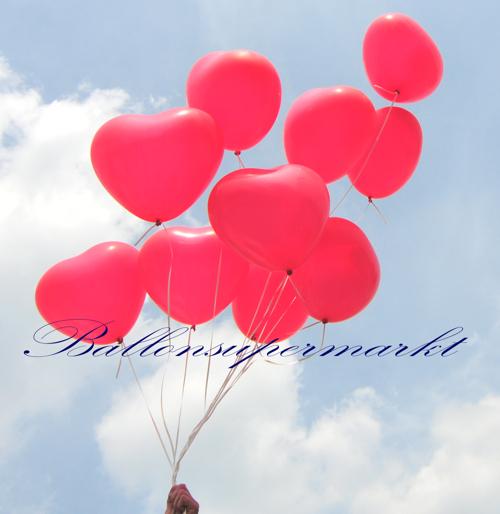 Herzluftballons zur Hochzeit in Premiumqualität