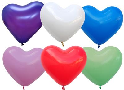 Latex-Luftballons Ø 30cm 10 Stk Herzen blau Hochzeit Ballons Herzballons