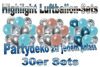 highlight luftballon-sets, 30er, partydekoration zu jedem anlass