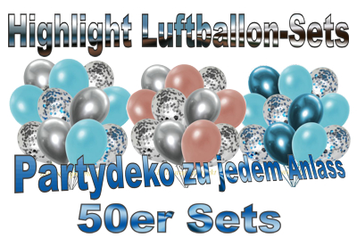 highlight luftballon-sets, 50er, partydekoration zu jedem anlass