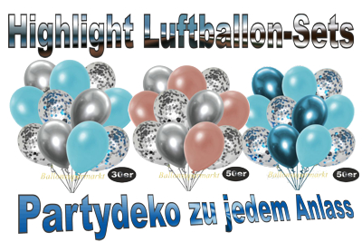 highlight luftballon-sets, partydekoration zu jedem anlass