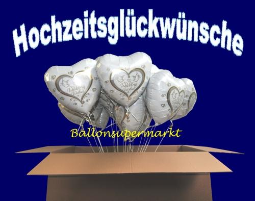 ballonsupermarkt wedding wishes folienballons 20 st ck herzluftballons mit. Black Bedroom Furniture Sets. Home Design Ideas