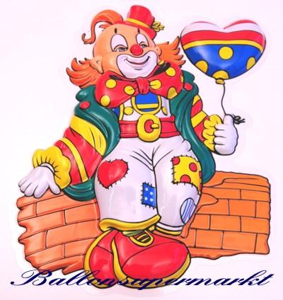 Clown Mit Herzballon Wanddekoration Buhnendekoration Zu Karneval