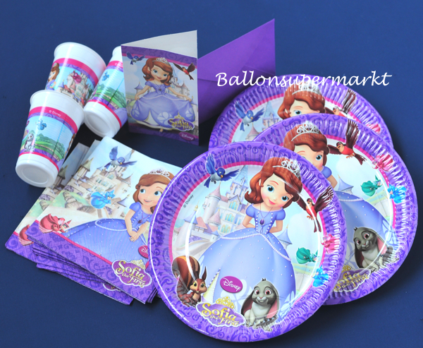 Kindergeburtstag Party Set Sofia the First