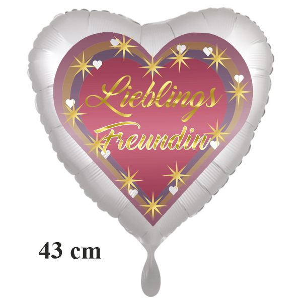 Lieblings Freundin Herzluftballon, 43 cm