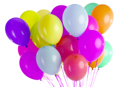 Latex-Luftballons Ø 30cm 10 Stk Ornament weiß Hochzeit Ballons Raumdeko
