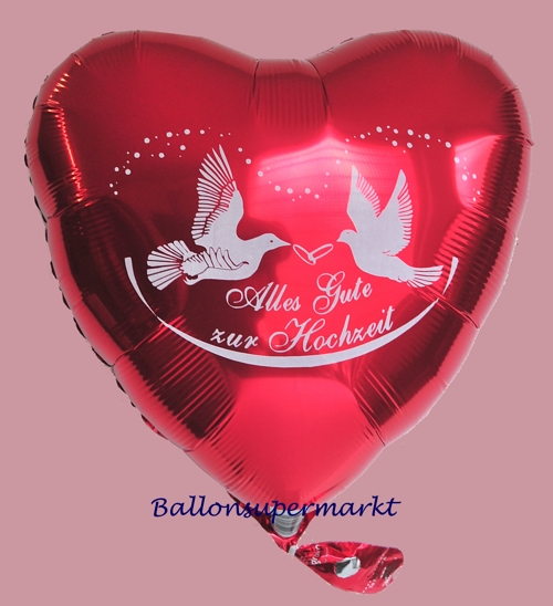 luftballon herz alles gute zur hochzeit folienballon mit ballongas ballonsupermarkt. Black Bedroom Furniture Sets. Home Design Ideas