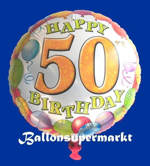 happy birthday luftballon zum 50 geburtstag ohne helium geburtstag 45 cm folienballons. Black Bedroom Furniture Sets. Home Design Ideas