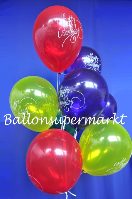 motiv luftballons happy birthday motiv luftballons 10 stueck im beutel luftballons mit. Black Bedroom Furniture Sets. Home Design Ideas