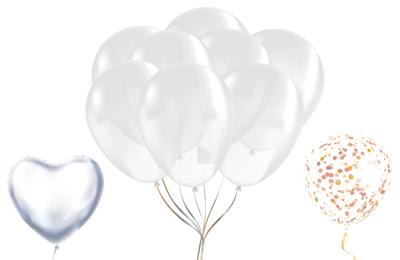 Helium Folienballon Klar Durchsichtig Transparent Hochzeit Geburtstag Deko