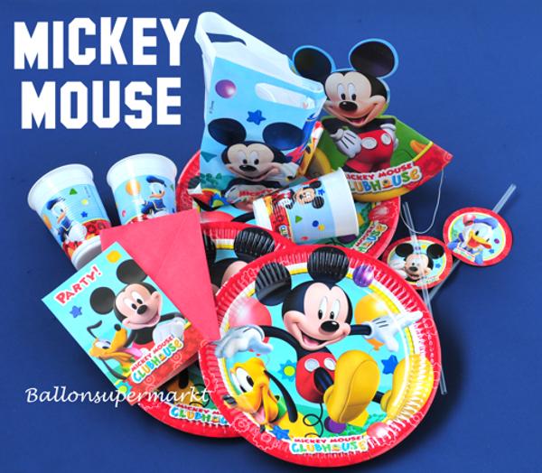 party set mickey mouse partydekoration kindergeburtstag ballonsupermarkt. Black Bedroom Furniture Sets. Home Design Ideas
