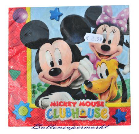 ballonsupermarkt partyservietten mickey mouse partydekoration kindergeburtstag. Black Bedroom Furniture Sets. Home Design Ideas