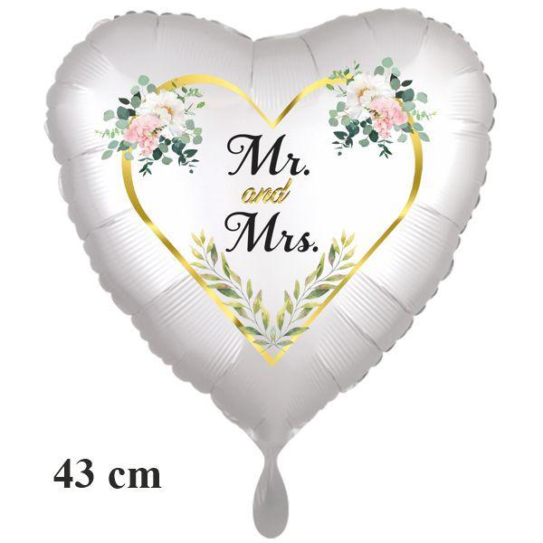 Mr. & Mrs. Luftballon zur Hochzeit