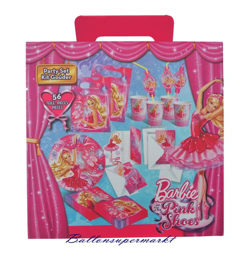 Ballonsupermarkt barbie party set for Kindergeburtstag party set