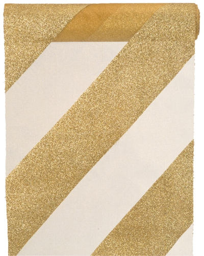 ballonsupermarkt deko tischl ufer tischdecke goldstreifen glitter goldene. Black Bedroom Furniture Sets. Home Design Ideas